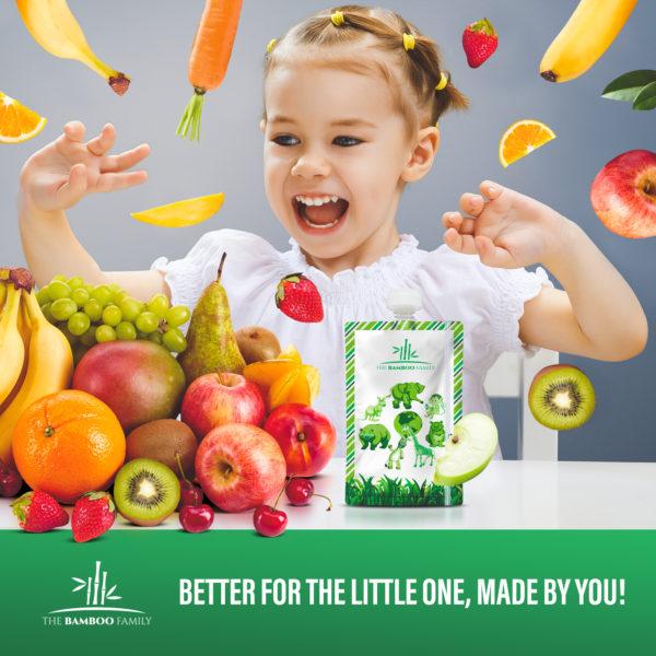 reusable children's applesauce pouch